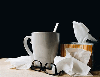 tissue and hot tea
