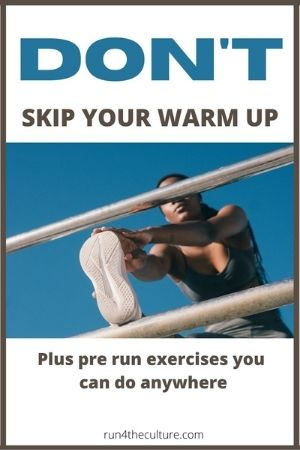Don't skip your warm up Pinterest Pin
